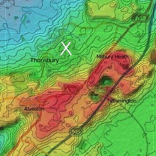 Terrain plot with contours